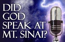 Did God Speak at Sinai?